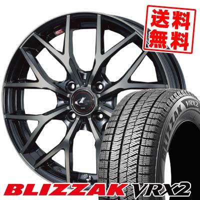 145/65R15 BRIDGESTONE ブリヂストン BLIZZAK VRX2 ブリザック VRX2 weds LEONIS MX ウェッズ レオニス MX スタッドレスタイヤホイール4本セット