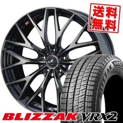 215/45R18 BRIDGESTONE ブリヂストン BLIZZAK VRX2 ブリザック VRX2 weds LEONIS MX ウェッズ レオニス MX スタッドレスタイヤホイール4本セット【取付対象】