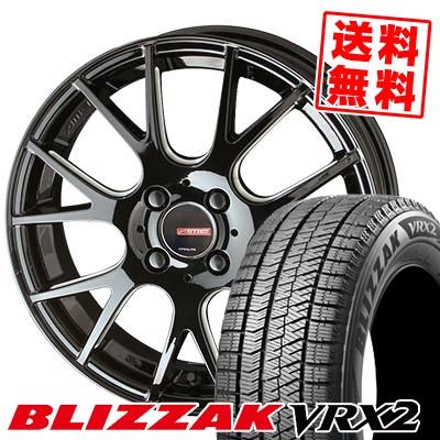 195/65R16 BRIDGESTONE ブリヂストン BLIZZAK VRX2 ブリザック VRX2 CIRCLAR RM-7 サーキュラー RM-7 スタッドレスタイヤホイール4本セット