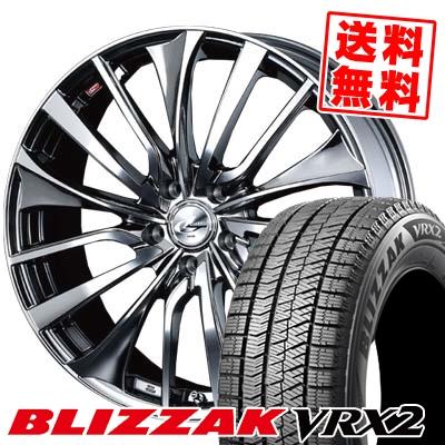 215/45R18 BRIDGESTONE ブリヂストン BLIZZAK VRX2 ブリザック VRX2 weds LEONIS VT ウエッズ レオニス VT スタッドレスタイヤホイール4本セット【取付対象】