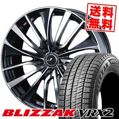 195/60R15 BRIDGESTONE ブリヂストン BLIZZAK VRX2 ブリザック VRX2 weds LEONIS VT ウエッズ レオニス VT スタッドレスタイヤホイール4本セット
