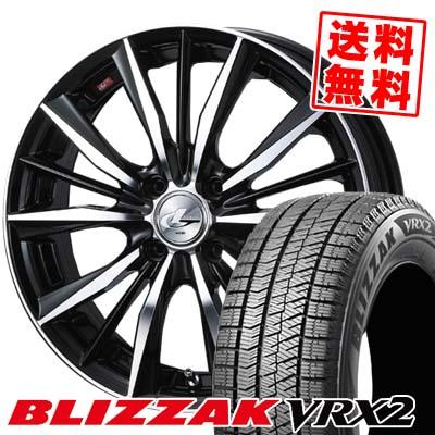 155/55R14 BRIDGESTONE ブリヂストン BLIZZAK VRX2 ブリザック VRX2 weds LEONIS VX ウエッズ レオニス VX スタッドレスタイヤホイール4本セット