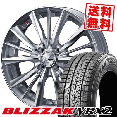 175/60R16 BRIDGESTONE ブリヂストン BLIZZAK VRX2 ブリザック VRX2 weds LEONIS VX ウエッズ レオニス VX スタッドレスタイヤホイール4本セット