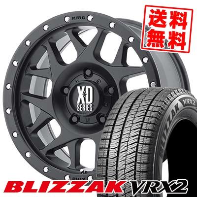205/60R16 BRIDGESTONE ブリヂストン BLIZZAK VRX2 ブリザック VRX2 KMC XD127 BULLY KMC XD127 ブリー スタッドレスタイヤホイール4本セット