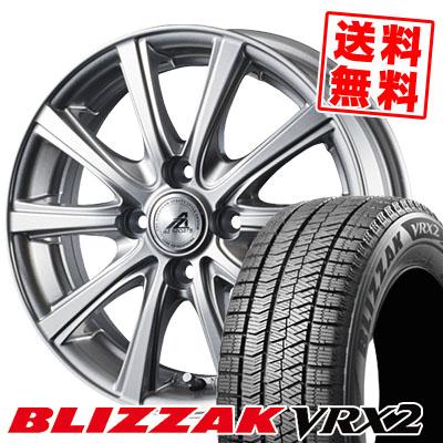 175/65R15 BRIDGESTONE ブリヂストン BLIZZAK VRX2 ブリザック VRX2 AZ sports YL-10 AZスポーツ YL-10 スタッドレスタイヤホイール4本セット