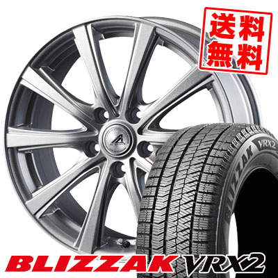 205/70R15 BRIDGESTONE ブリヂストン BLIZZAK VRX2 ブリザック VRX2 AZ sports YL-10 AZスポーツ YL-10 スタッドレスタイヤホイール4本セット
