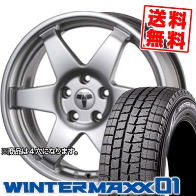 175/65R15 84Q DUNLOP ダンロップ WINTER MAXX 01 ウインターマックス 01 WM01 TECMAG type206R テクマグ タイプ206R スタッドレスタイヤホイール4本セット