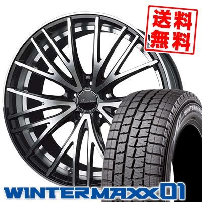 215/60R17 DUNLOP ダンロップ WINTER MAXX 01 WM01 ウインターマックス 01 Precious AST M1 プレシャス アスト M1 スタッドレスタイヤホイール4本セット