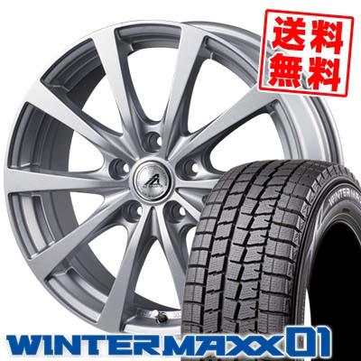 215/60R17 96Q DUNLOP ダンロップ WINTER MAXX 01 WM01 ウインターマックス 01 AZ SPORTS EX10 AZスポーツ EX10 スタッドレスタイヤホイール4本セット