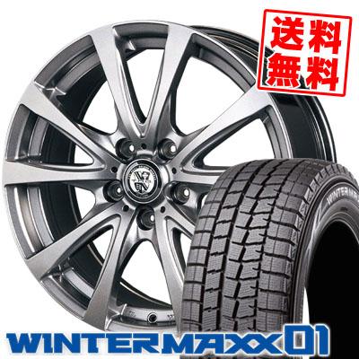 ウインターマックス 01 WM01 195/60R16 89Q TRG バーン フラッシュグレイ スタッドレスタイヤホイール 4本 セット