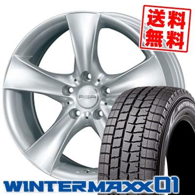 205/60R16 92Q DUNLOP ダンロップ WINTER MAXX 01 ウインターマックス 01 WM01 AGA Bayern AGA バイエルン スタッドレスタイヤホイール4本セット
