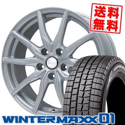205/60R16 DUNLOP ダンロップ WINTER MAXX 01 WM01 ウインターマックス 01 B-WIN KRX B-WIN KRX スタッドレスタイヤホイール4本セット