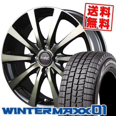 155/65R14 DUNLOP ダンロップ WINTER MAXX 01 WM01 ウインターマックス 01 EuroSpeed BL10 ユーロスピード BL10 スタッドレスタイヤホイール4本セット