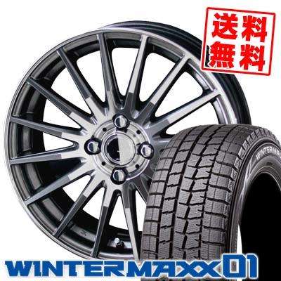 185/55R15 82Q DUNLOP ダンロップ WINTER MAXX 01 WM01 ウインターマックス 01 CIRCLAR VERSION DF サーキュラー バージョン DF スタッドレスタイヤホイール4本セット