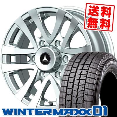 ウインターマックス 01 WM01 215/70R15 98Q マッドクリフ シルバー スタッドレスタイヤホイール 4本 セット