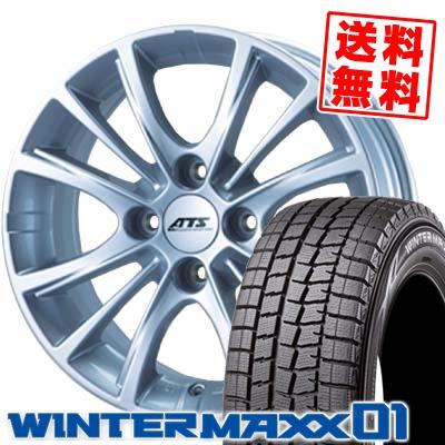 185/60R15 84Q DUNLOP ダンロップ WINTER MAXX 01 ウインターマックス 01 WM01 ATS CPtype ATS CPタイプ スタッドレスタイヤホイール4本セット