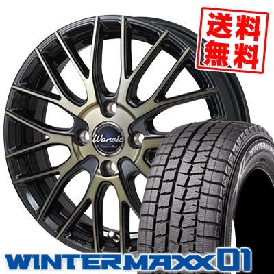 185/60R15 DUNLOP ダンロップ WINTER MAXX 01 WM01 ウインターマックス 01 Warwic Empress Mesh ワーウィック エンプレスメッシュ スタッドレスタイヤホイール4本セット