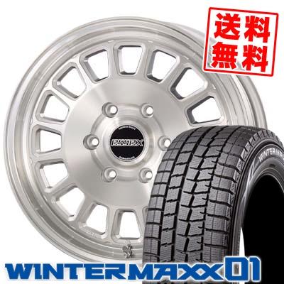 215/60R17 DUNLOP ダンロップ WINTER MAXX 01 WM01 ウインターマックス 01 ESSEX ENCD 1PIECE エセックス ENCD 1ピース スタッドレスタイヤホイール4本セット