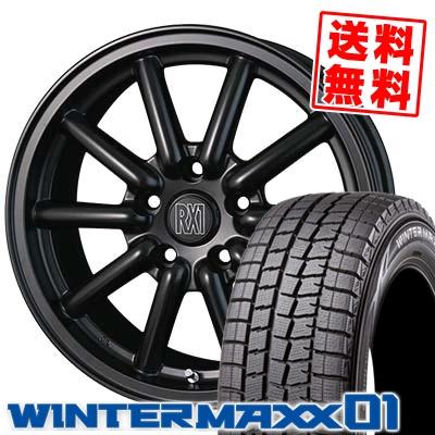 205/60R16 DUNLOP ダンロップ WINTER MAXX 01 WM01 ウインターマックス 01 ALGERNON Fenice RX1 アルジェノン フェニーチェ RX1 スタッドレスタイヤホイール4本セット