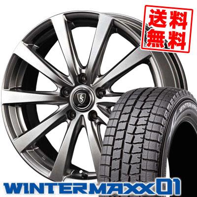 205/65R15 DUNLOP ダンロップ WINTER MAXX 01 WM01 ウインターマックス 01 Euro Speed G10 ユーロスピード G10 スタッドレスタイヤホイール4本セット
