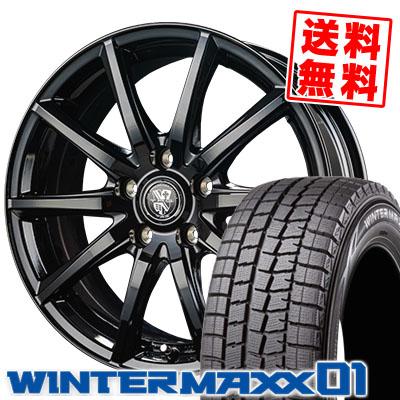 215/70R15 98Q DUNLOP ダンロップ WINTER MAXX 01 WM01 ウインターマックス 01 TRG-GB10 TRG GB10 スタッドレスタイヤホイール4本セット