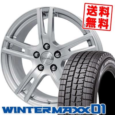 205/65R15 94Q DUNLOP ダンロップ WINTER MAXX 01 ウインターマックス 01 WM01 EuroPremium GENT ユーロプレミアム ゲント スタッドレスタイヤホイール4本セット