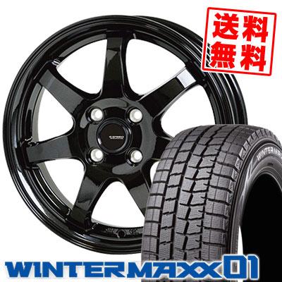 185/60R15 84Q DUNLOP ダンロップ WINTER MAXX 01 WM01 ウインターマックス 01 G.speed G-03 Gスピード G-03 スタッドレスタイヤホイール4本セット