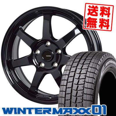 195/60R16 89Q DUNLOP ダンロップ WINTER MAXX 01 WM01 ウインターマックス 01 G.speed G-03 Gスピード G-03 スタッドレスタイヤホイール4本セット