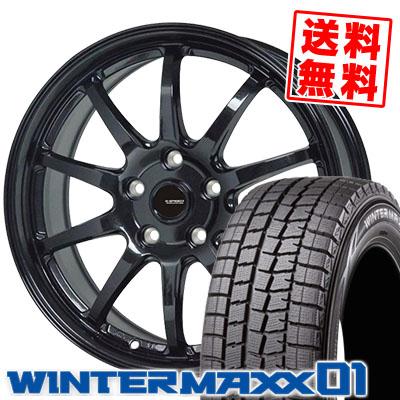 205/65R15 94Q DUNLOP ダンロップ WINTER MAXX 01 WM01 ウインターマックス 01 G.speed G-04 Gスピード G-04 スタッドレスタイヤホイール4本セット