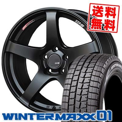 215/55R17 94Q DUNLOP ダンロップ WINTER MAXX 01 WM01 ウインターマックス 01 SSR GTV01 SSR GTV01 スタッドレスタイヤホイール4本セット