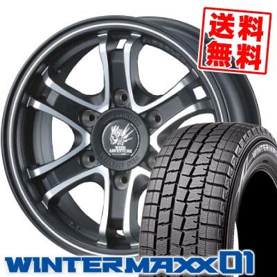 215/65R16 98Q DUNLOP ダンロップ WINTER MAXX WM01 ウインターマックス WM01 KEELER FORCE キーラーフォース スタッドレスタイヤホイール4本セット