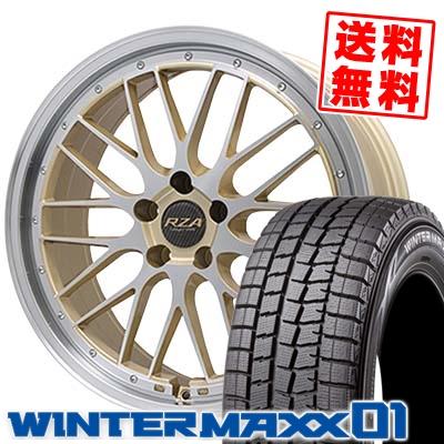 235/50R18 DUNLOP ダンロップ WINTER MAXX 01 WM01 ウインターマックス 01 Leycross REZERVA レイクロス レゼルヴァ スタッドレスタイヤホイール4本セット