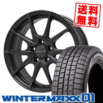 205/70R15 DUNLOP ダンロップ WINTER MAXX 01 WM01 ウインターマックス 01 LeyBahn WGS レイバーン WGS スタッドレスタイヤホイール4本セット