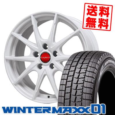 195/65R15 DUNLOP ダンロップ WINTER MAXX 01 WM01 ウインターマックス 01 LeyBahn WGS レイバーン WGS スタッドレスタイヤホイール4本セット