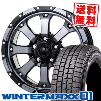 195/60R16 DUNLOP ダンロップ WINTER MAXX 01 WM01 ウインターマックス 01 MKW MK-46 MKW MK-46 スタッドレスタイヤホイール4本セット