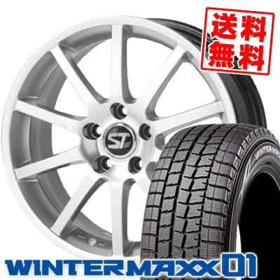 185/65R14 86Q DUNLOP ダンロップ WINTER MAXX 01 ウインターマックス 01 WM01 SPORTTECHNIC MONO10 VISION EU2 スポーツテクニック モノ10ヴィジョンEU2 スタッドレスタイヤホイール4本セット