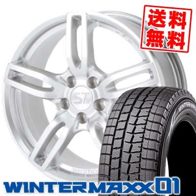 215/50R17 91Q DUNLOP ダンロップ WINTER MAXX 01 ウインターマックス 01 WM01 SPORTTECHNIC MONO5 VISION スポーツテクニック モノ5ヴィジョン スタッドレスタイヤホイール4本セット