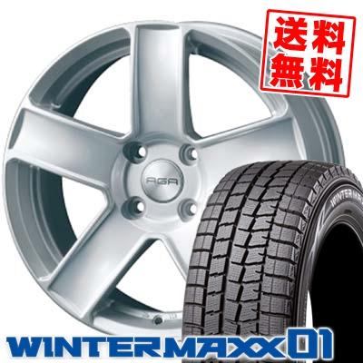 185/60R15 84Q DUNLOP ダンロップ WINTER MAXX 01 ウインターマックス 01 WM01 AGA Paris AGA パリス スタッドレスタイヤホイール4本セット