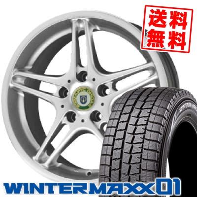 225/45R18 91Q DUNLOP ダンロップ WINTER MAXX 01 ウインターマックス 01 WM01 RACING DYNAMICS RD3 レーシングダイナミクスRD3 スタッドレスタイヤホイール4本セット