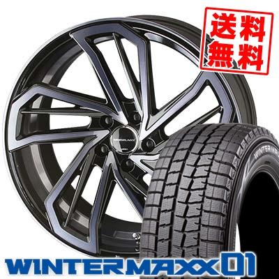 235/50R18 DUNLOP ダンロップ WINTER MAXX 01 WM01 ウインターマックス 01 AME MODELART REVIVER-monoblock AME モデラート リヴァイバー モノブロック スタッドレスタイヤホイール4本セット