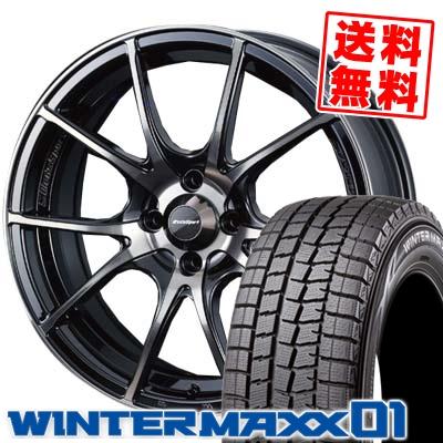 165/65R15 DUNLOP ダンロップ WINTER MAXX 01 WM01 ウインターマックス 01 wedsSport SA-10R ウエッズスポーツ SA10R スタッドレスタイヤホイール4本セット