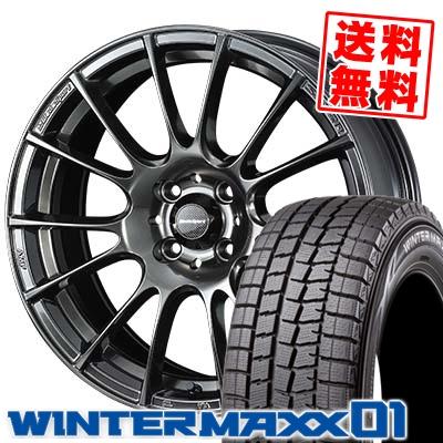 165/60R15 DUNLOP ダンロップ WINTER MAXX 01 WM01 ウインターマックス 01 WedsSport SA-72R ウェッズスポーツ SA-72R スタッドレスタイヤホイール4本セット