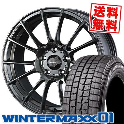 205/60R16 DUNLOP ダンロップ WINTER MAXX 01 WM01 ウインターマックス 01 WedsSport SA-72R ウェッズスポーツ SA-72R スタッドレスタイヤホイール4本セット