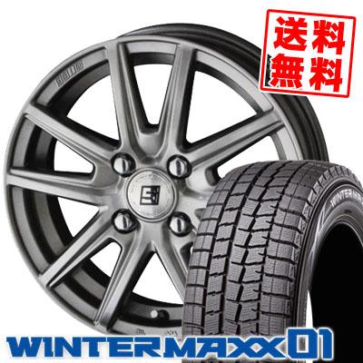 185/60R15 84Q DUNLOP ダンロップ WINTER MAXX 01 WM01 ウインターマックス 01 SEIN SS ザイン エスエス スタッドレスタイヤホイール4本セット