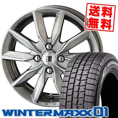 165/55R15 75Q DUNLOP ダンロップ WINTER MAXX 01 WM01 ウインターマックス 01 SEIN SV ザイン エスブイ スタッドレスタイヤホイール4本セット