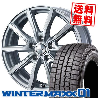 195/70R15 92Q DUNLOP ダンロップ WINTER MAXX 01 WM01 ウインターマックス 01 JOKER SHAKE ジョーカー シェイク スタッドレスタイヤホイール4本セット