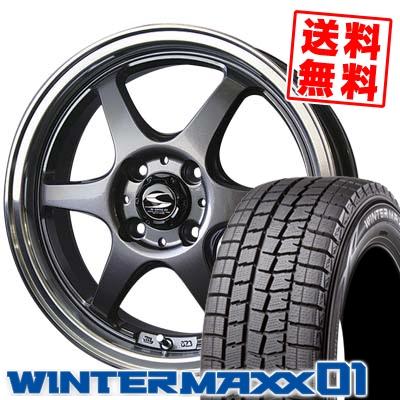 165/60R15 DUNLOP ダンロップ WINTER MAXX 01 WM01 ウインターマックス 01 BADX S-HOLD STOLZ バドックス エスホールド シュトルツ スタッドレスタイヤホイール4本セット