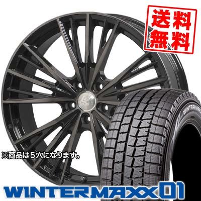 165/55R14 DUNLOP ダンロップ WINTER MAXX 01 WM01 ウインターマックス 01 Cliff Climb TC-04 クリフクライム TC04 スタッドレスタイヤホイール4本セット