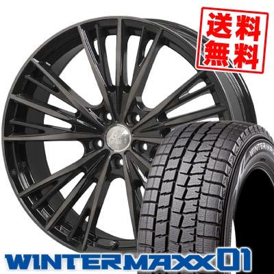 235/50R18 DUNLOP ダンロップ WINTER MAXX 01 WM01 ウインターマックス 01 Cliff Climb TC-04 クリフクライム TC04 スタッドレスタイヤホイール4本セット