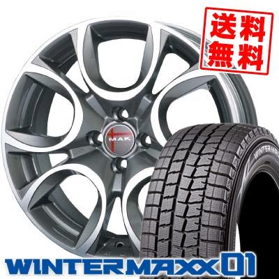 185/65R15 88Q DUNLOP ダンロップ WINTER MAXX 01 ウインターマックス 01 WM01 MAK TORINO MAK トリノ スタッドレスタイヤホイール4本セット